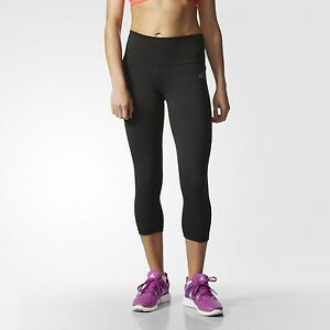 adidas Performer Mid Rise Three Quarter Tights Womens Black
