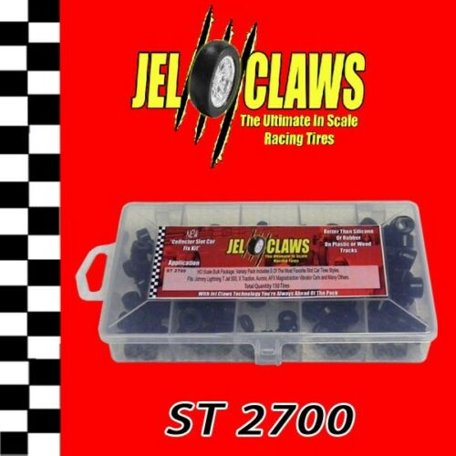 1/64 HO Scale AFX Slot Car Tires Jel Claws 150pk Fits Aurora, Johnny Lightning