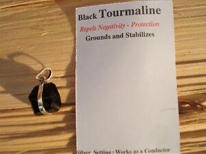 Black-Tourmaline-Natural-Rough-Pendant-Grounding-Protective-Energy-Earth-Energy