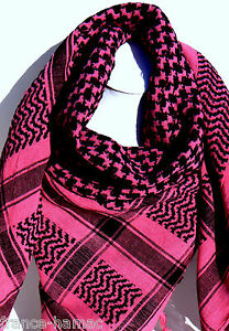 KEFFIEH palestinien FUSCHIA NOIR 100% COTON 100x105 cheche, foulard ... db37ee79a2f