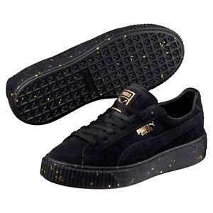 official photos 27502 772d9 Dettagli su Scarpe Puma Donna - Suede Platform Celebrate - Nero - 365621