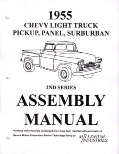1955 Chevrolet Truck Suburban Assembly Manual Rebuild Instructions Book Guide OE