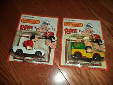 1980's POPEYE OLIVE OIL CONVERTIBLE AND POPEYE MATCHBOX UNPUNCHED!LOOK!