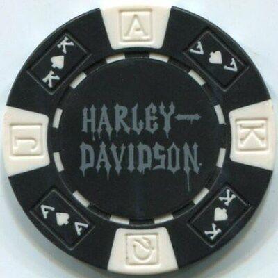 Black HARLEY DAVIDSON SKULL roll of 25 poker chips