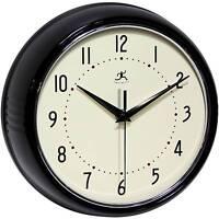 Retro Metal Wall Clock Black - Infinity Instruments&174; on sale