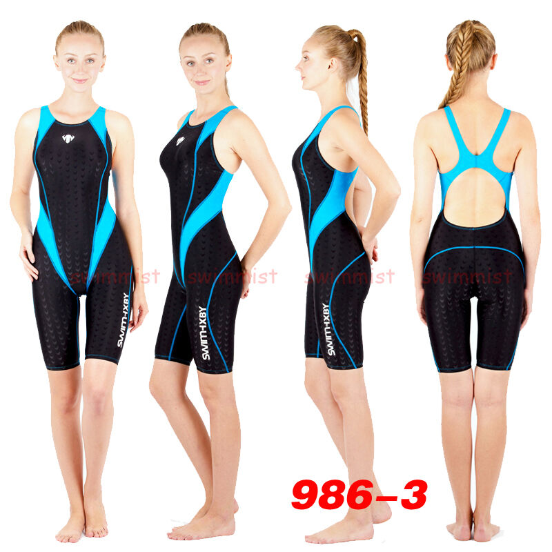 NWT HXBY 986-3 COMPETITION TRAINING RACING SHARKSKIN KNEESKIN L US MISS 4-6 Sz30
