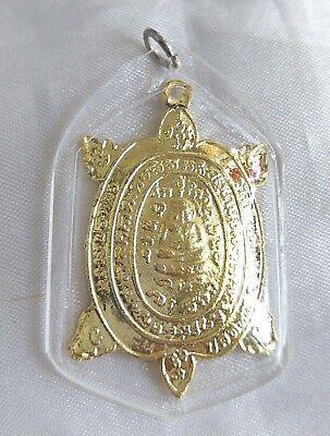 Pendant Tao Turtle Buddha LP Liew Thai Amulet Talisman success healthy long life