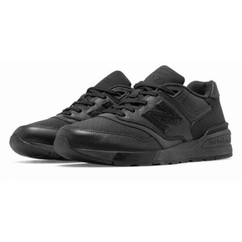 New Balance en de cuir 597 hommesnoir Chaussures course pour Ml597bex noires WEH2YD9I