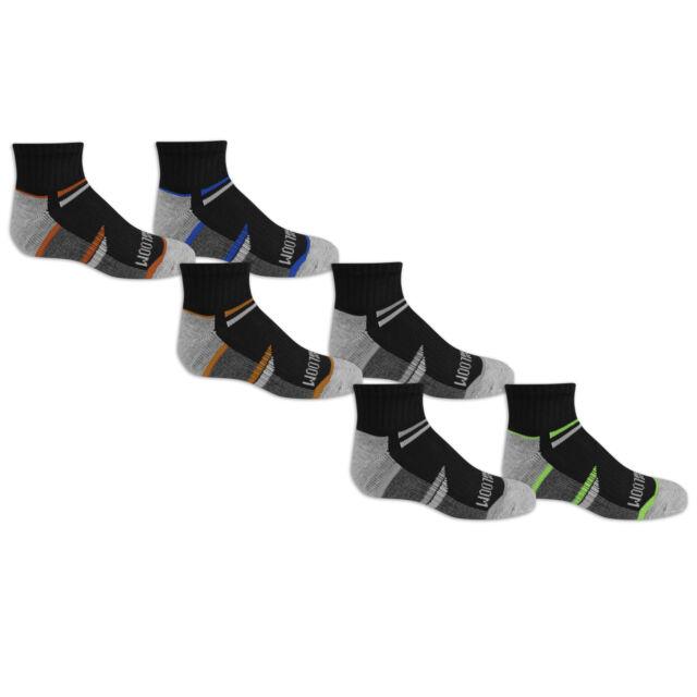 Fruit of the Loom Boys 6-Pair Half Cushion Ankle Socks