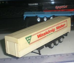 091-REMORQUE-SEMI-TRAILER-HERPA-WASKONIG-WALTER-TRUCK-SCALE-1-87-HO-OCCASION