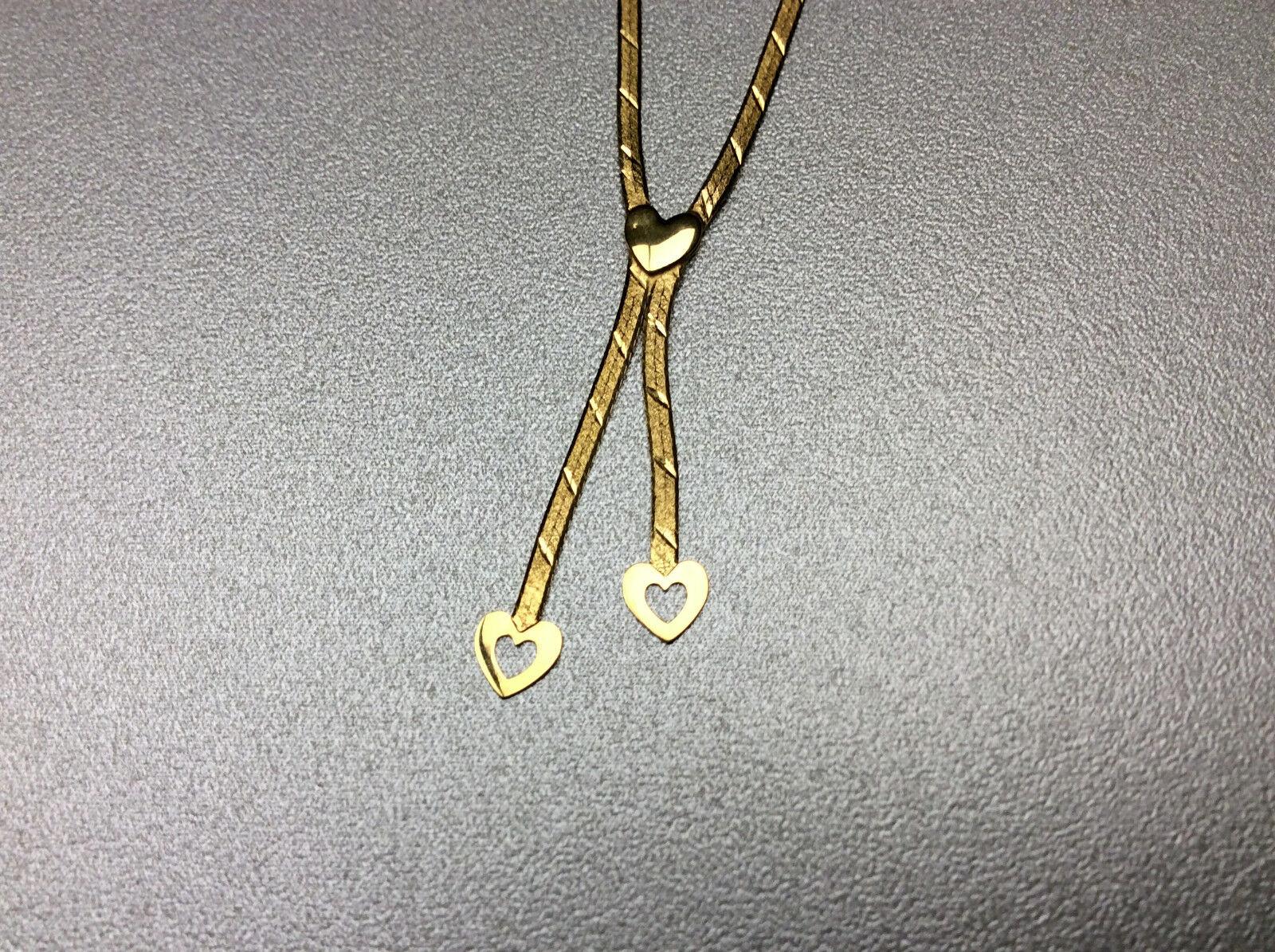 goldkette 333er gold  2 Herzen - Länge 43cm  2,7 Gramm Gewicht