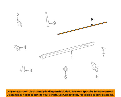 TOYOTA OEM 05-08 Matrix Exterior-Rocker Molding Strip 7692502040B0