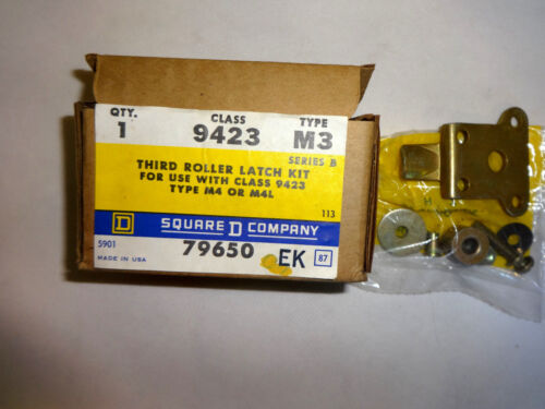 NEW IN BOX SQUARE D 9423-M3 THIRD ROLLER LATCH KIT