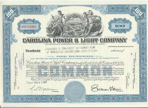 Carolina-Power-amp-Light-Company-Stock-Certificate