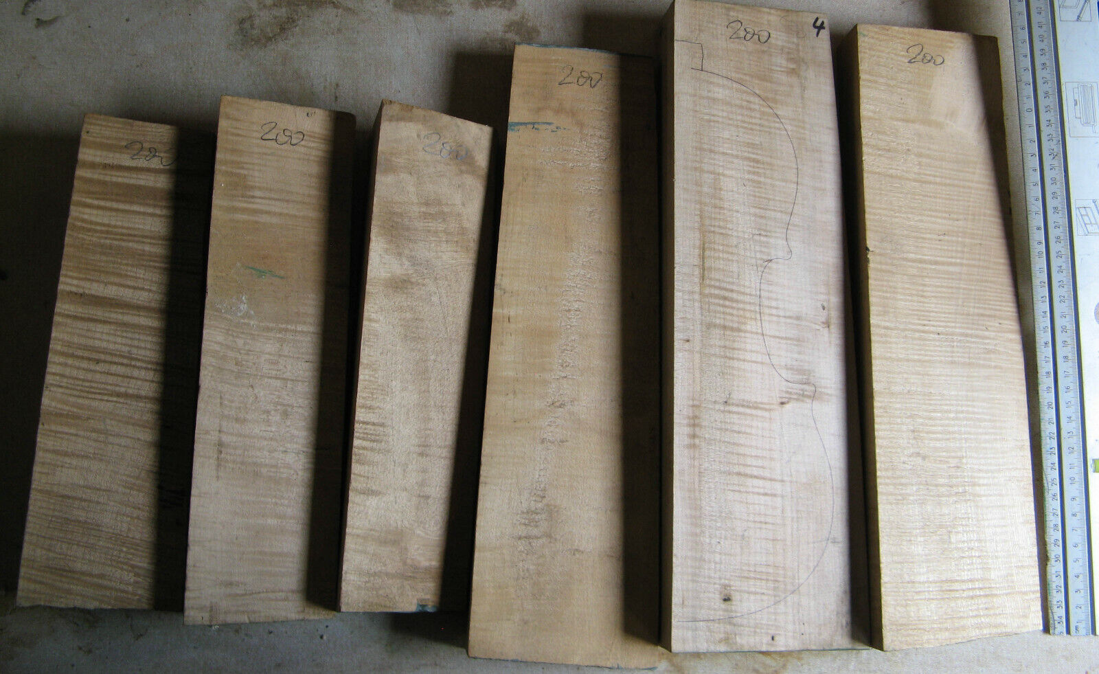 Lot 12   old Bosnian maple for violin making from 1991 flamed