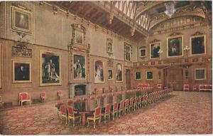 WATERLOO-GALLERY-STATE-APARTMENTS-WINDSOR-CASTLE-ROYALTY-TUCK-039-S-POSTCARD