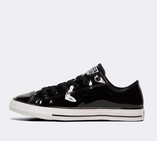 Junior Converse CTAS Ox Patent 90s Black Trainers RRP £36.99