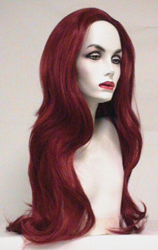 JEAN GREY FIRE RED WOMAN LONG STRAIGHT PHOENIX X-MEN 3 SUPERHERO COSTUME WIG