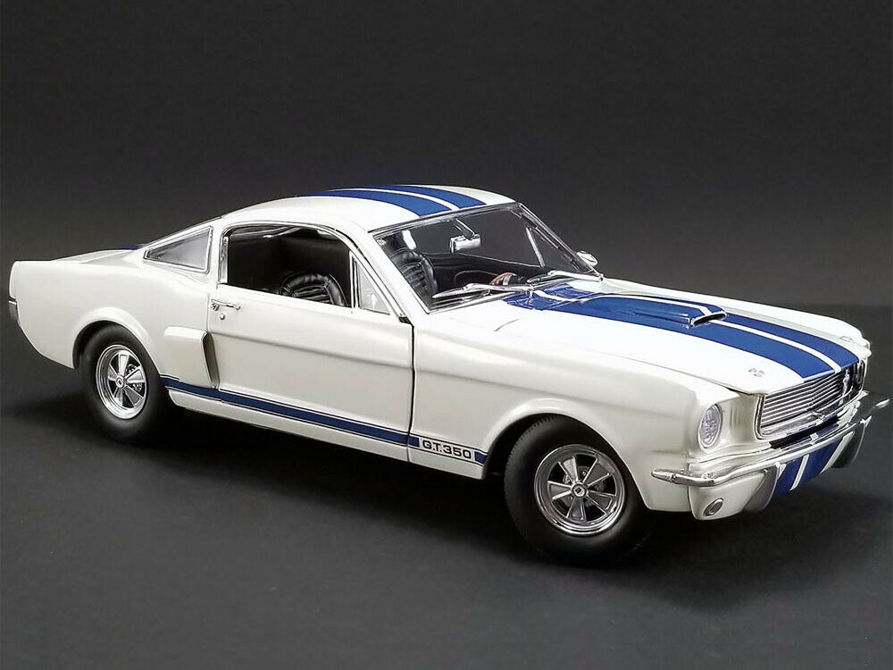 ACME 1 18 1966 Shelby GT 350 Supercharged & bluee Stripes Diecast White A1801833