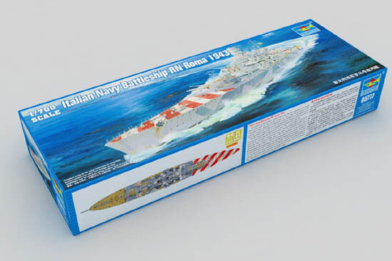 05777 Trumpeter Italian Battleship RN Roma 1943 Static Model Kit Warship 1 700