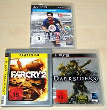 3 PLAYSTATION 3 PS3 SPIELE SAMMLUNG FIFA 13 FAR CRY 2 DARKSIDERS EGO SHOOTER