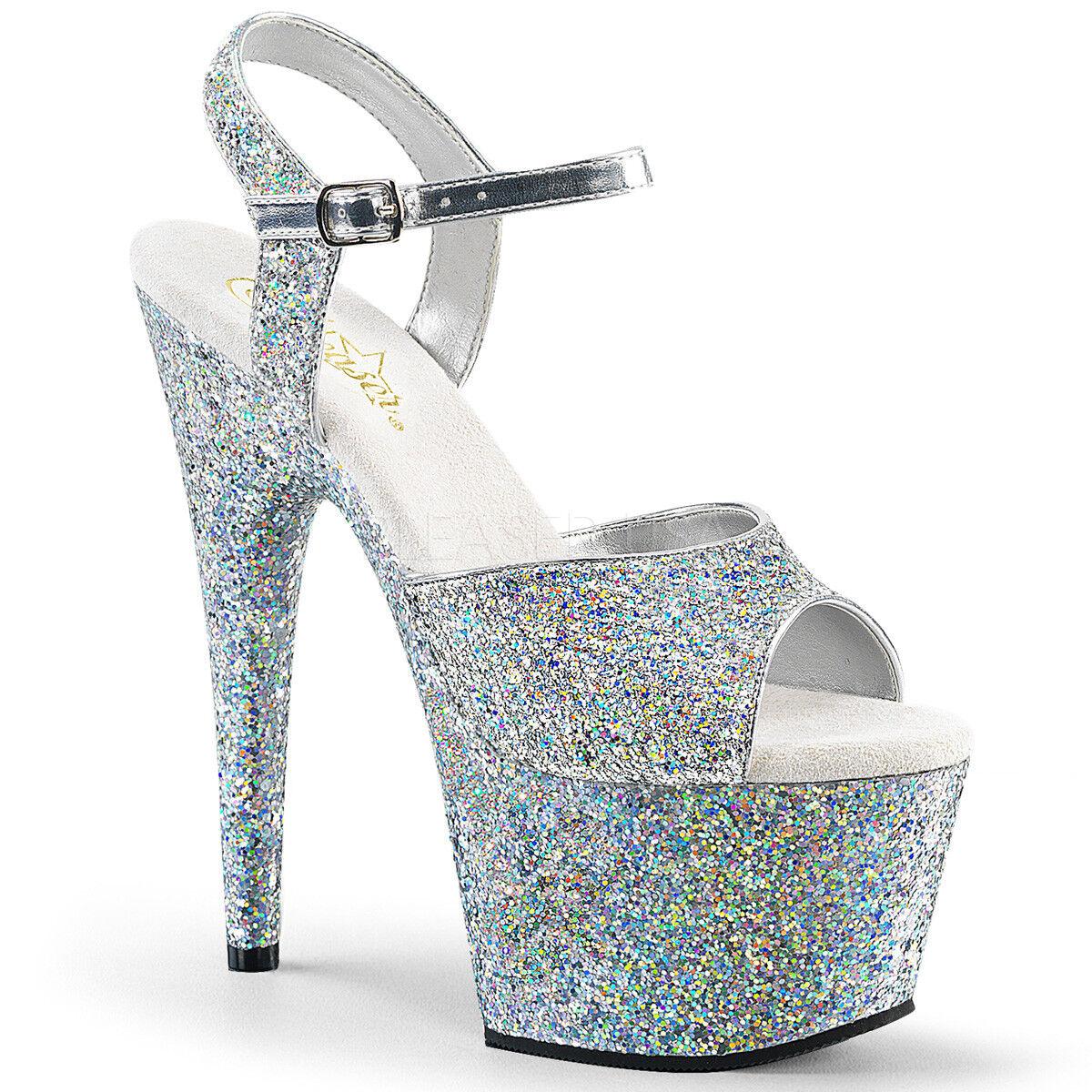 7  Silber Silber Silber Glitter Platform Pole Dancer Stripper Heels Pleaser schuhe Adore 7 8 9 d2b8d5