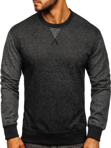 Sweat-shirt Chemise Manches Longues Pull Col Rond Classic Motif Messieurs Mix BOLF 1a1 Sport