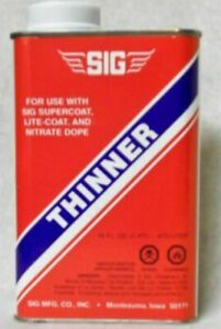 SIG SUPERCOAT THINNER   16 ounces