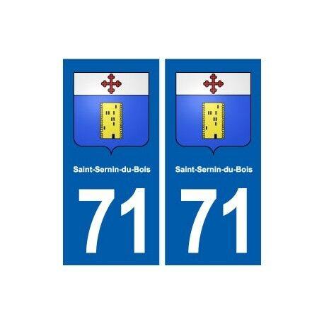 71 Saint-Sernin-du-Bois blason autocollant plaque stickers ville droits
