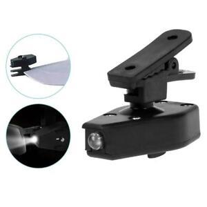 MINI-Torcia-LED-Clip-On-all-039-aperto-Pesca-Occhio-Occhiali-LUCE-LAMPADA-DA-LETTURA-LIBRO