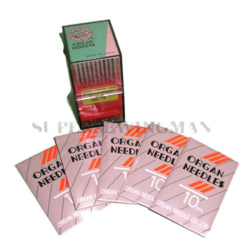 Mix Lot 50 Organ 16X257 9,10,11,12,14 Industrial Sewing Machine Needles size