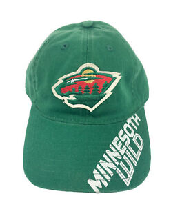 Minnesota-Wild-Official-NHL-Reebok-One-Size-Fit-All-Adjustable-Hat-Cap-New