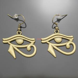 Vintage Bronze Egypte Cléopâtre Wedjat Eye of Horus Ra Dangle Boucles d/'oreilles Wicca