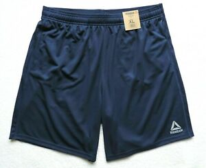Reebok-Men-039-s-Speedwick-Athletic-Casual-Shorts-Navy-Blue