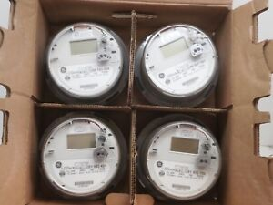 Lot-of-4-GE-I-120-ce-Itron-SSI-1210-1x-Wireless-Smart-Watthour-Meter-CL200-240