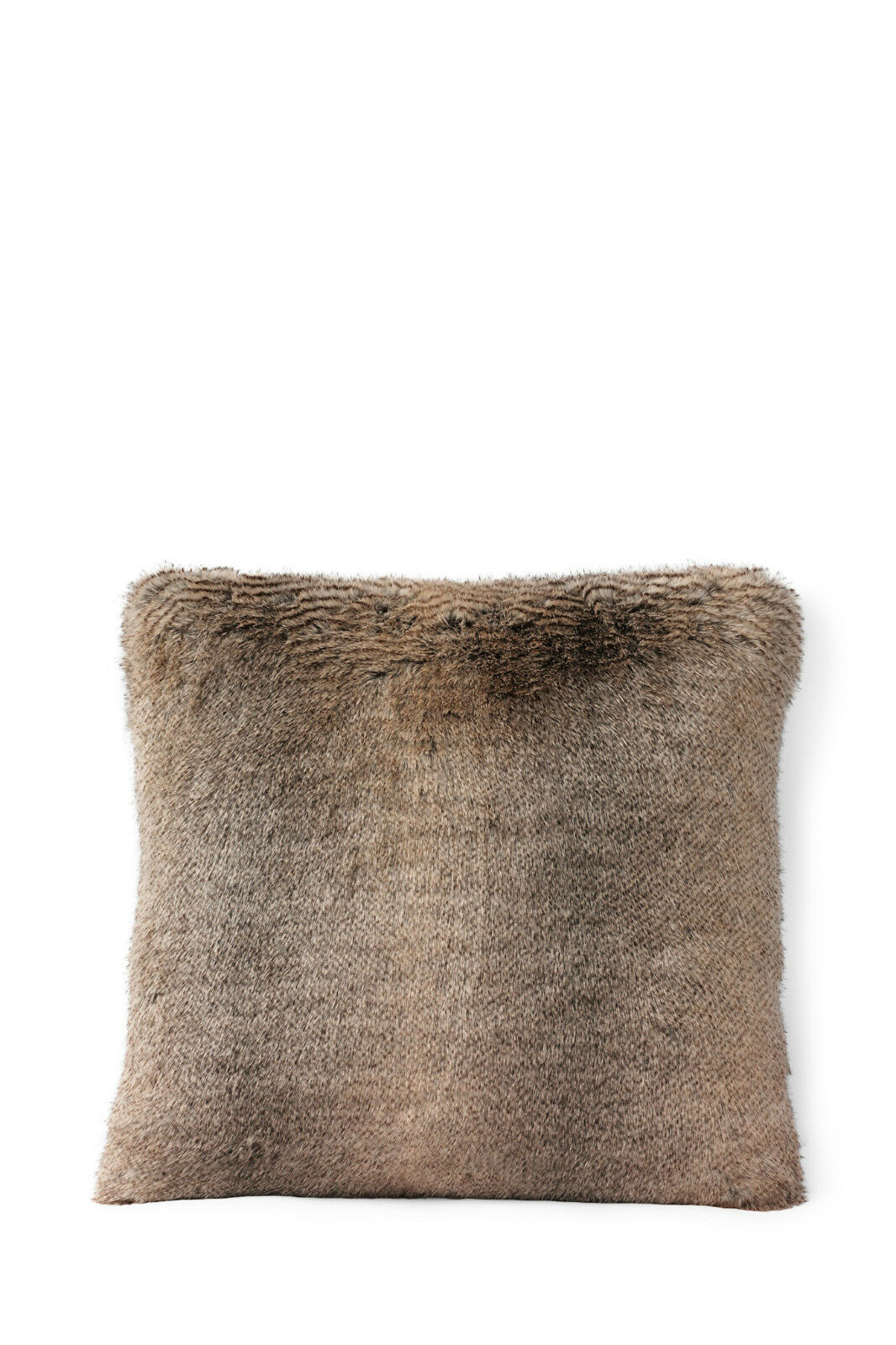 Two Brand New in Pkg Lands End Faux Mink Fur Pillows 20 X 20