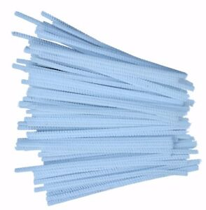 100-White-Pipe-Cleaners-Stems-Chenille-Craft-150mm-x-4mm-6-034