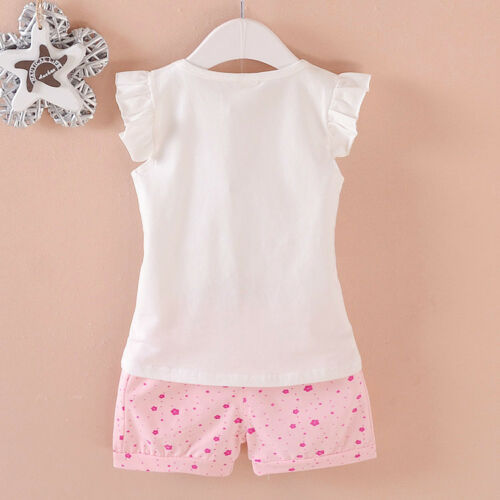2pcs toddler summer clothes baby girls Tee+short pants kids casual outfits