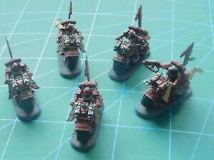 5 figurines en plastique Terminator de Terminator de motards de dragons de Warhammer 40k