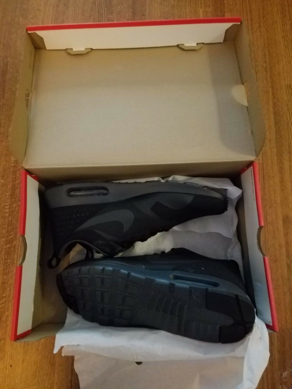 Nike air max tavas scarpe neri antracite 705149-010 nuovi uomini