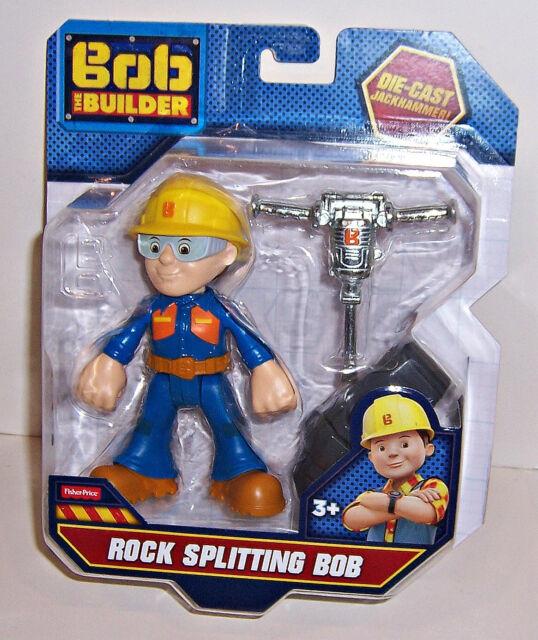 Fisher Price BOB THE BUILDER ROCK SPLITTING BOB PLAYSET Die-Cast Jackhammer NEW!
