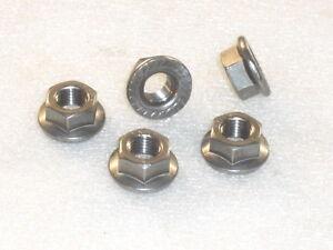 5x-M10x1-25mm-A4-316-Stainless-Steel-FLANGE-Nuts-Metric-Fine-eg-SUZUKI-sprocket