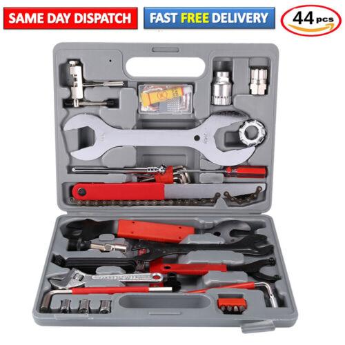 44 Pack Bicycle Road Bike Complete Maintenance Repair Tool Hand Wrench Kit