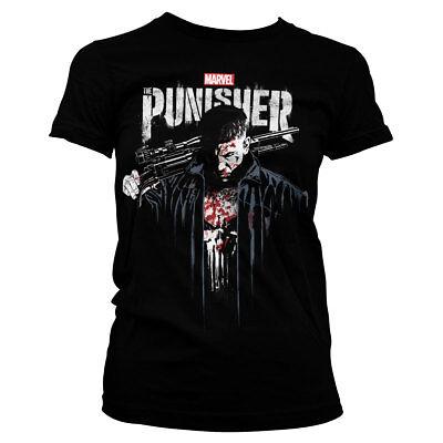 Licenza Ufficiale /'IL VENDICATORE Marvel sangue Donna T-Shirt Taglie S-XXL