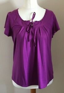 Moda-at-George-Size-14-Ladies-Short-Sleeve-Purple-T-Shirt-Top