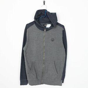 Vintage-VOLCOM-Small-Logo-Zip-Up-Hoodie-Sweatshirt-Grey-Small-S