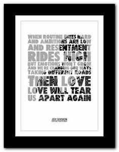 JOY-DIVISION-Love-Will-Tear-Us-Apart-lyric-poster-art-print-A1-A2-A3-or-A4-2