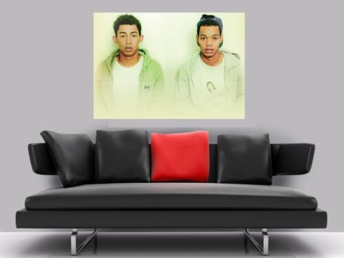 "RIZZLE KICKS BORDERLESS MOSAIC TILE WALL POSTER 35/"" x 25/"" HIP HOP"