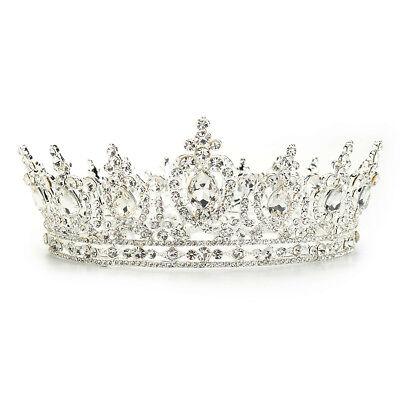 Diadem Tiara Krone Stirnband Haarreif Haarschmuck Braut Hochzeit Strass Perle
