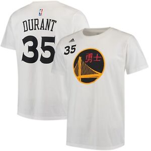 reputable site 01de5 a996d Details about Kevin Durant Golden State Warriors adidas Chinese New Year  Name & Number T-Shirt